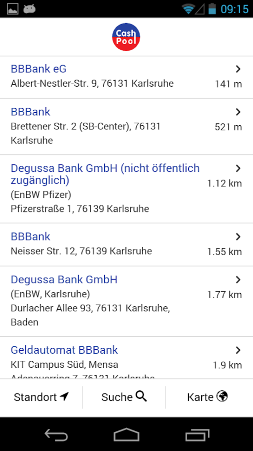 CashPool – Geldautomaten- screenshot