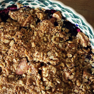 Apple Blueberry Crumble.