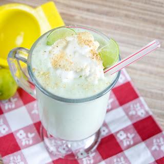 Healthy Key Lime Pie Milkshake.