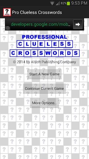 Pro Clueless Crosswords