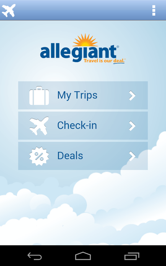 Allegiant2Go- screenshot