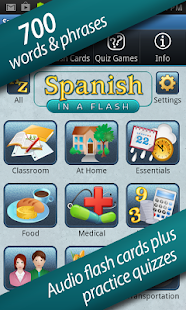 Spanish in a Flash- screenshot thumbnail