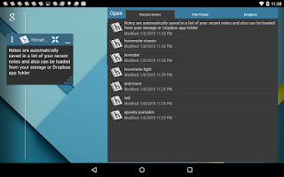 Screenshot of hovernote
