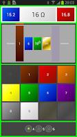 Screenshot of Resistor Color Code Ohm Calcul