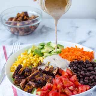 BBQ Tofu Chopped Salad Recipe