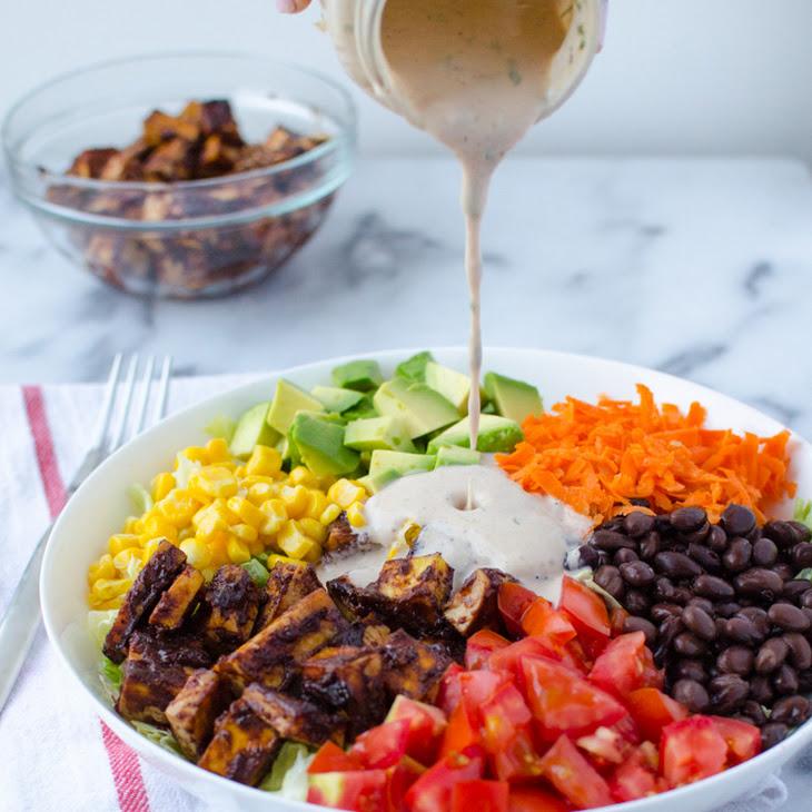 BBQ Tofu Chopped Salad Recipe