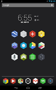 Flatty - A Flat Hex Icon Pack - screenshot thumbnail