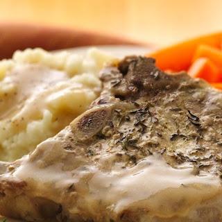 Pork Chops with Mustard-Thyme Gravy Recipe