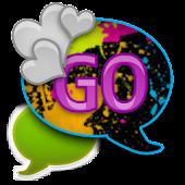 GO SMS - Splatter Hearts