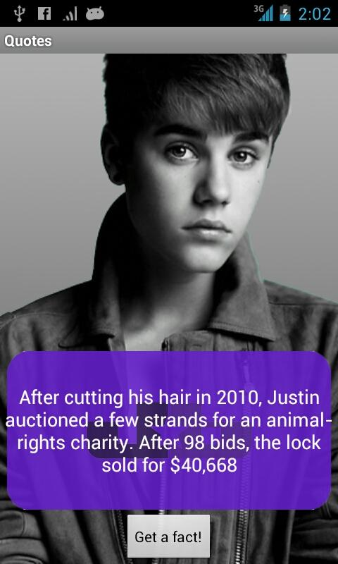 Justin Bieber Facts 2012 - screenshot