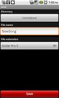 Screenshot of Guitar Partner