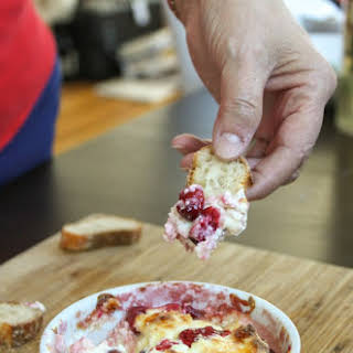 Gooey White Cheddar and Cranberry Dip.