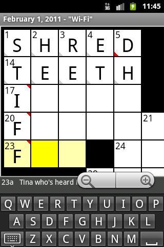 Crosswords- screenshot