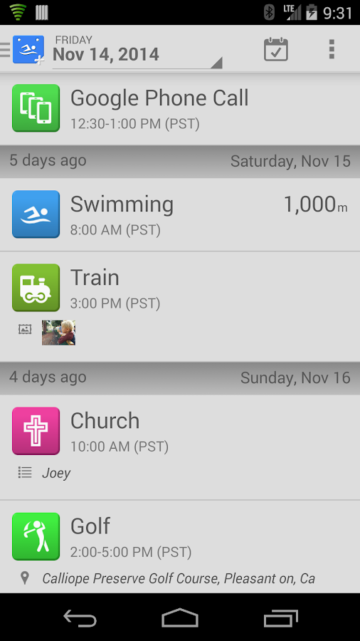 SwimWiz Fitness Log - screenshot