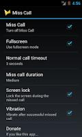 Screenshot of Miss Call