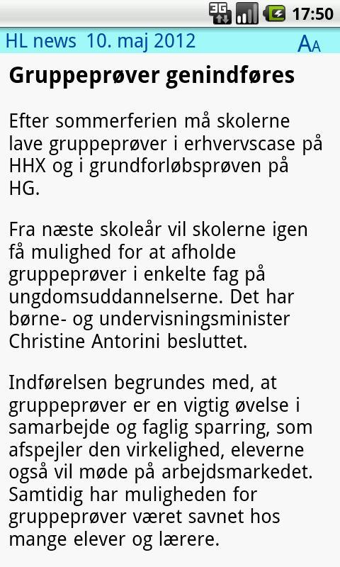 HL News- screenshot