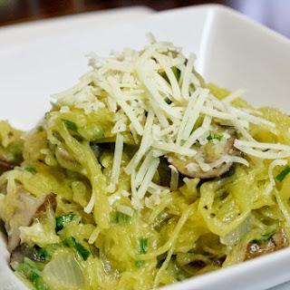 Mushroom And Herb Spaghetti Squash