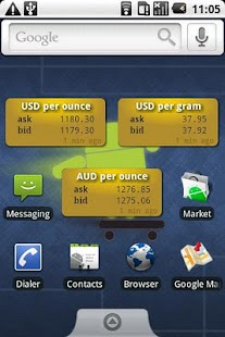 Gold Price Widget - screenshot thumbnail
