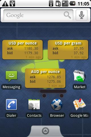 Gold Price Widget - screenshot