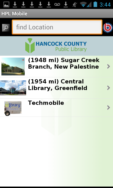 Hancock County Public Library- screenshot