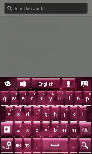 ピンクのキーボードメッセージング