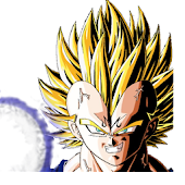 Majin Vegeta clock widget