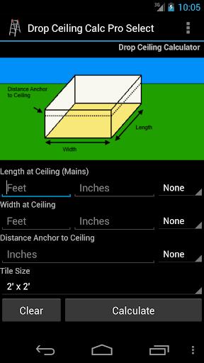 Drop Ceiling Calc Pro Select