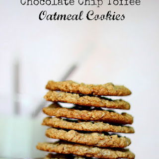 Chocolate Chip Toffee Oatmeal Cookies.