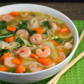 Asian Noodle Soup with Shrimp