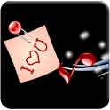 Romantic LOVE SMS logo