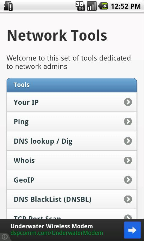 Network Tools - Free - screenshot