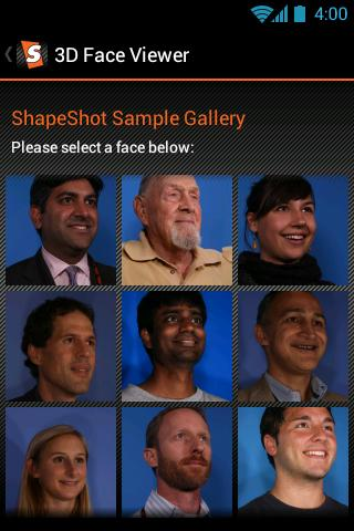 ShapeShot 3D Face Viewer- screenshot