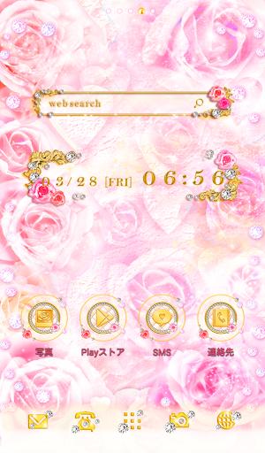 かわいいキラキラプリンセス壁紙★ピンクローズ