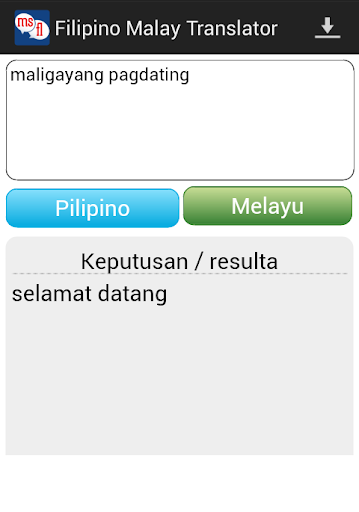Filipino Malay Translator