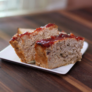 Turkey Meatloaf With Cranberry Glaze.