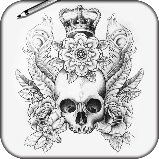 繪製TATTO頭骨 生活 App LOGO-APP試玩