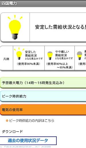 電力会社HP・でんき予報