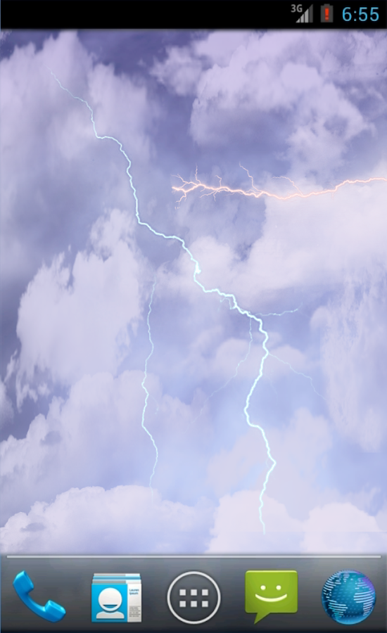 Rain Clouds Thunder Storm HD - screenshot