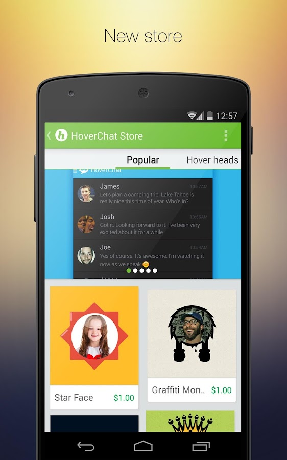 HoverChat (formerly Ninja SMS) - screenshot