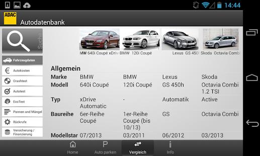 ADAC Autodatenbank - screenshot thumbnail