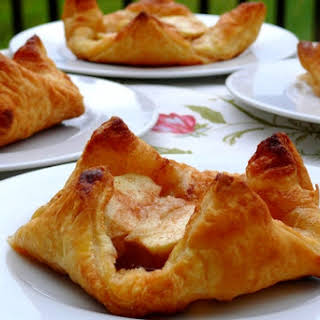 Individual Puff Pastry Apple Tarts with Almond & Cinnamon.