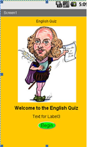 Quiz App for English