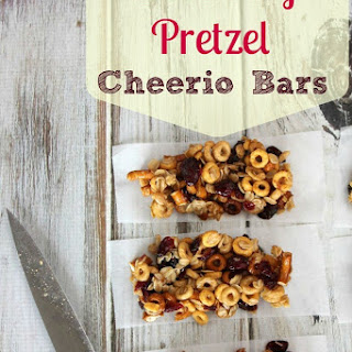 Cranberry Pretzel Cheerio Bars.
