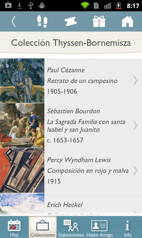 Museo Thyssen: captura de pantalla