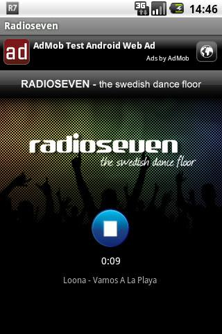 Radioseven- screenshot