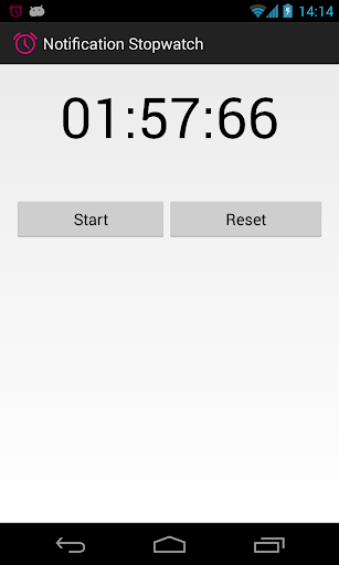 Notification Stopwatch
