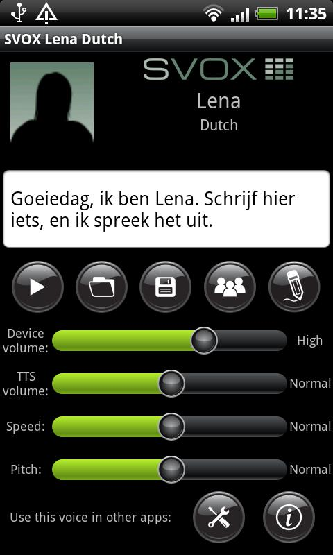 SVOX Dutch Lena Voice - screenshot