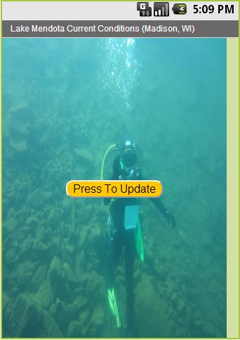 Lake Mendota Diving Temps