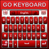 Go Keyboard Red and White