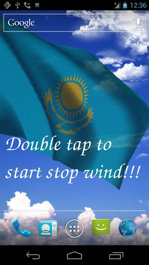 3D Kazakhstan Flag- screenshot